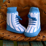 Little Slugger Blue Baby Socks