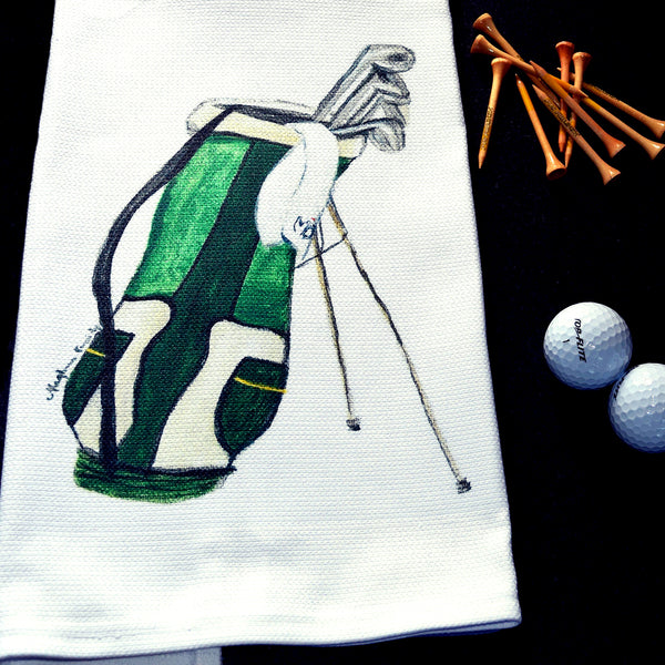 Golf Clubs Tea Towel