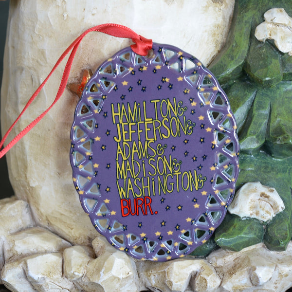 Hamilton Burr Ceramic Ornament