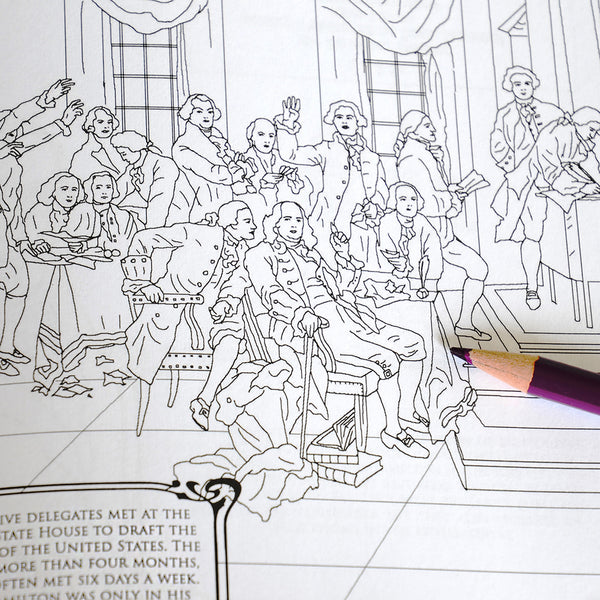 Hamilton The Adult Coloring Book National Archives Store