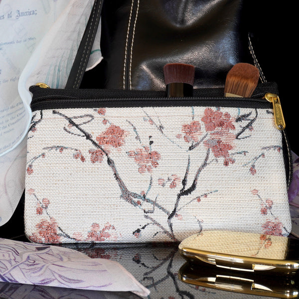 Delicate Cherry Blossom Zippered Trip Bag