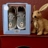 Brainy Bear Gray Baby Shoes