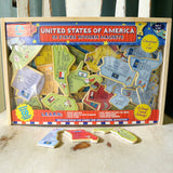United States of America Wooden Magnets: 50 States