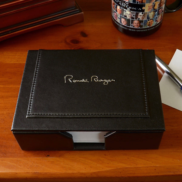 Ronald Reagan Signature Notecard Holder