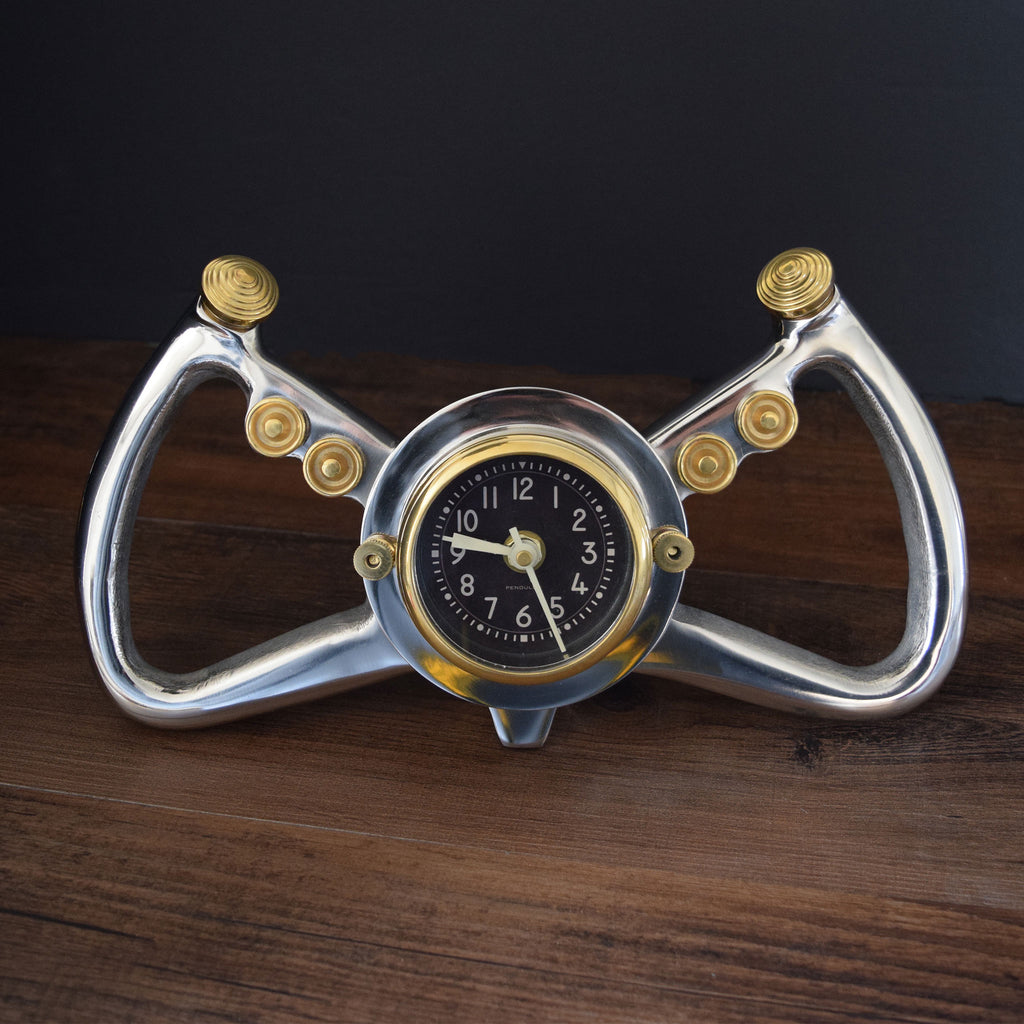 Cockpit Aluminum Table Clock