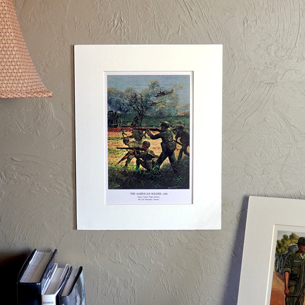 The American Soldier, 1966 Matted Print