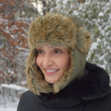 Olive Drab Flyer Fur Hat