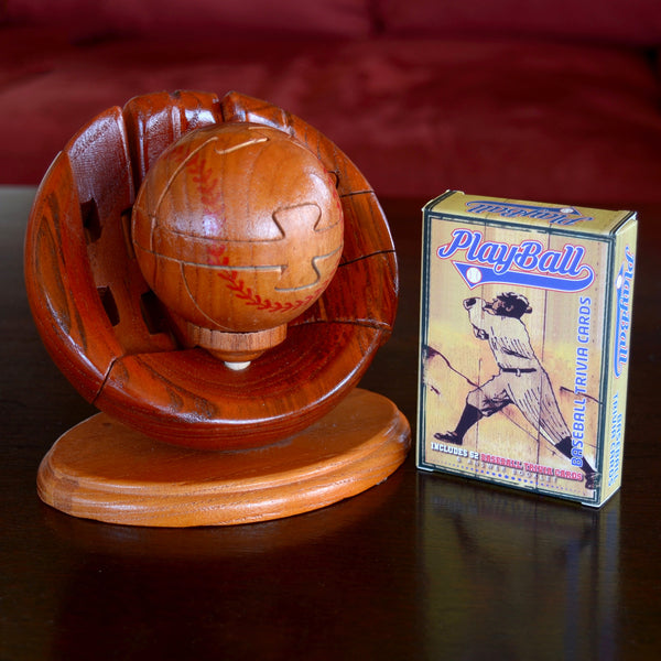 Wooden Baseball Puzzle