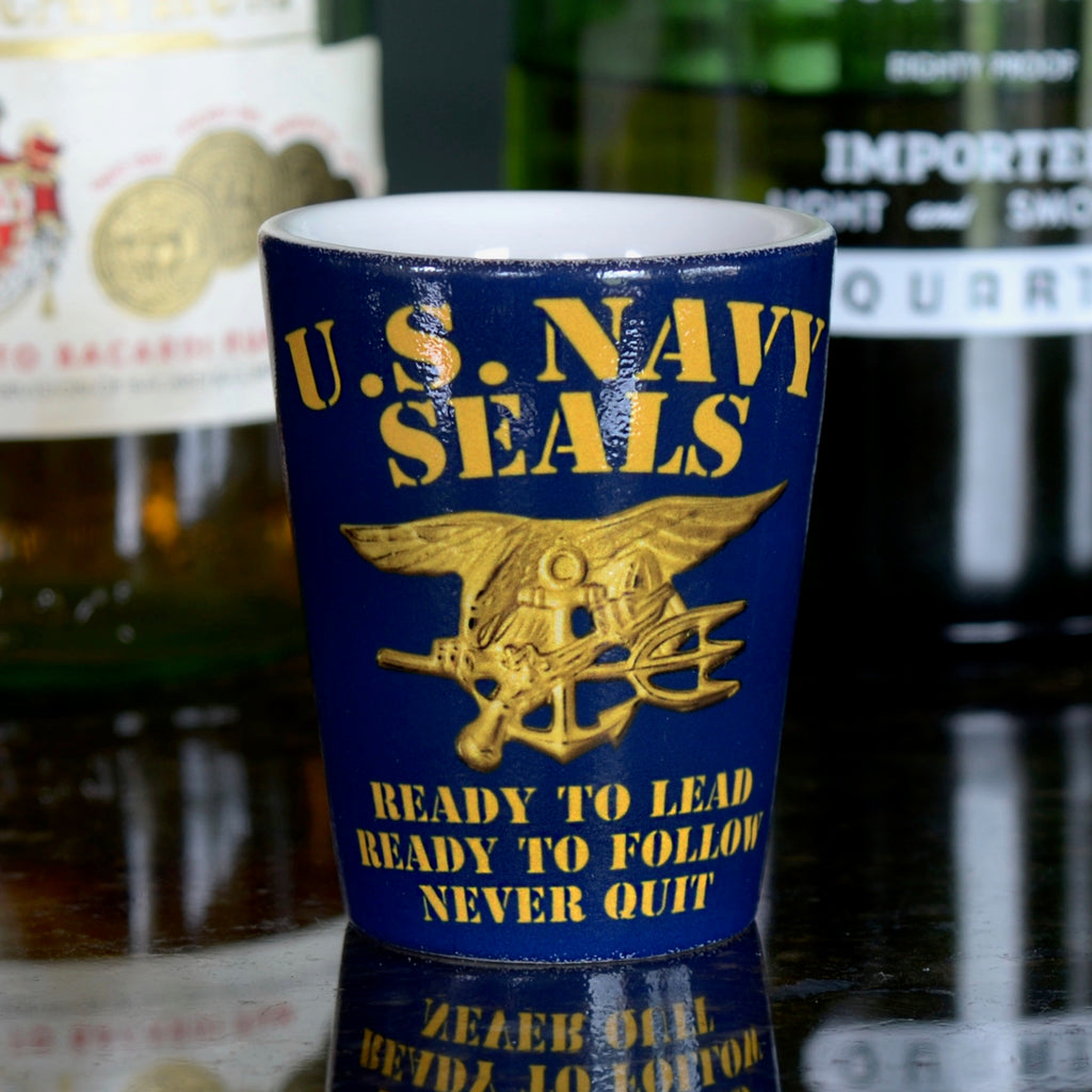 Navy SEALs Never Quit Shot Glass