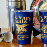Navy SEALs Never Quit Pint Glass