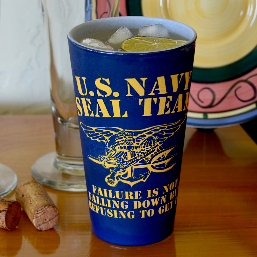 Navy SEALs Beat the Odds Pint Glass