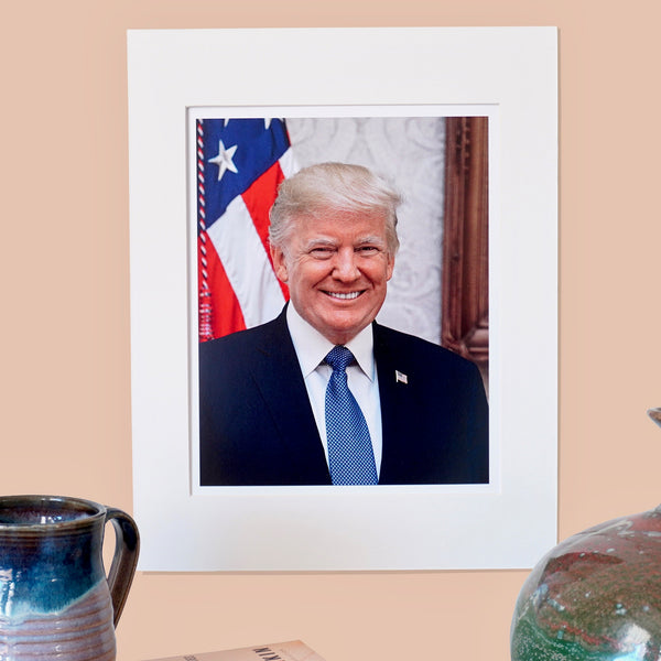 President Trump Matted Print