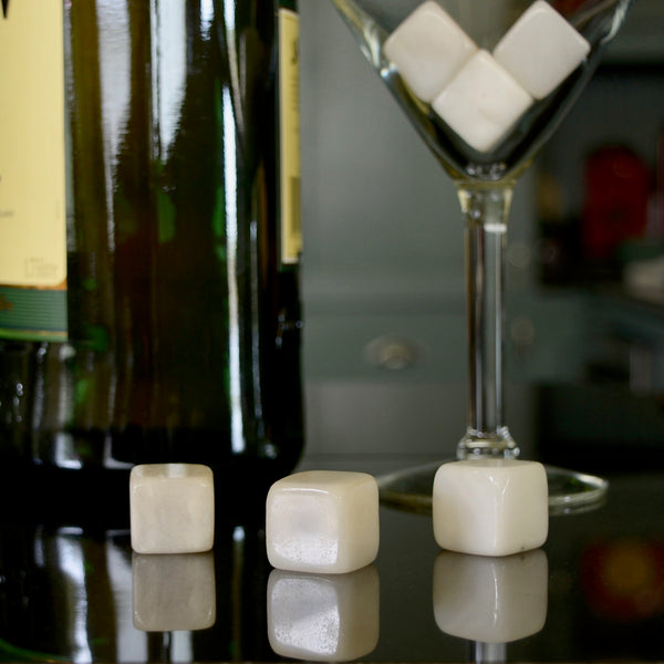 White Jade Whisky Stones Set