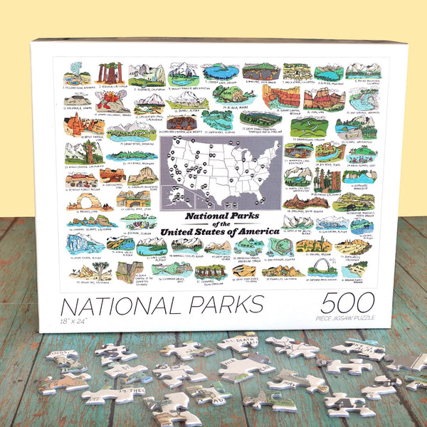 National Parks 500 Piece Puzzle