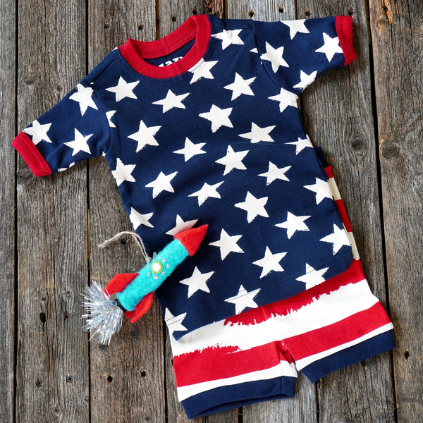 Stars and Stripes Patriotic Toddler Pajamas