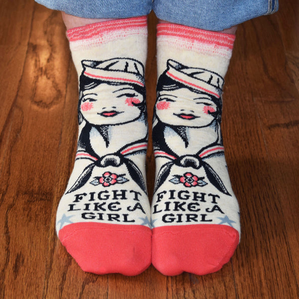 Fight Like a Girl Ankle Socks