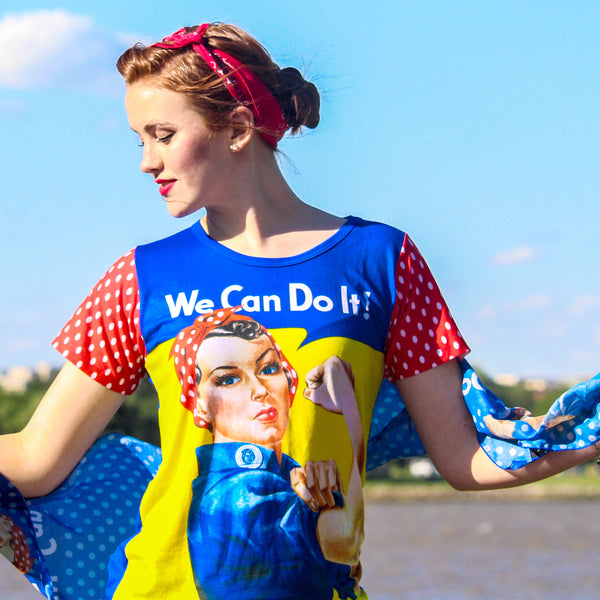 Rosie We Can Do It Ladies Top