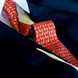 American Eagle with Flag Silk Tie