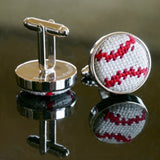 Stitched Baseball Cuff Links