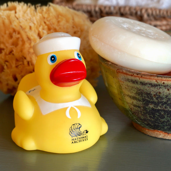 Navy Sailor Bath Duck