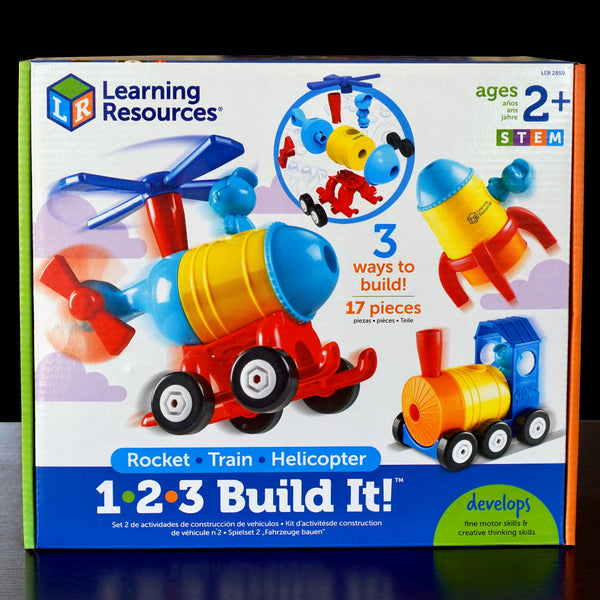 1-2-3 Build It: Rocket-Train-Helicopter