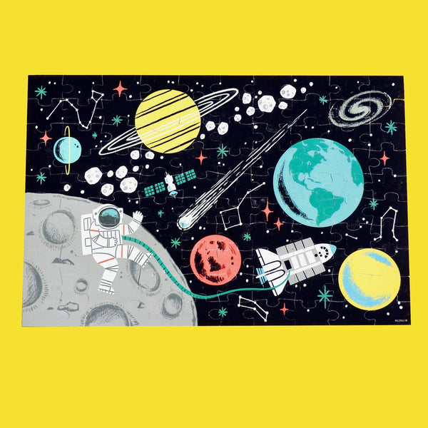 Outer Space Glow-in-the-Dark 100 Piece Puzzle