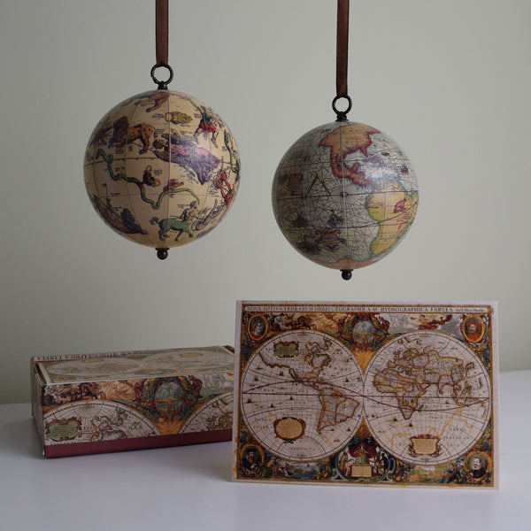 Vintage World Traveler Bundle Set 2: Note Cards and Ornament