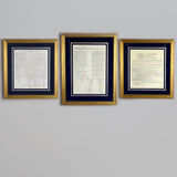 Premium Framed Charters of Freedom Bundle Antique Gold