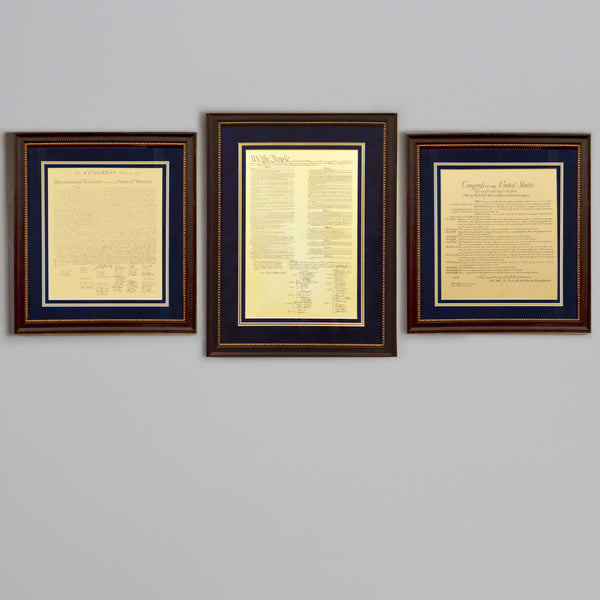 Premium Framed Charters of Freedom Bundle Black