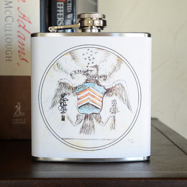Vintage Seal 6 Oz. Flask