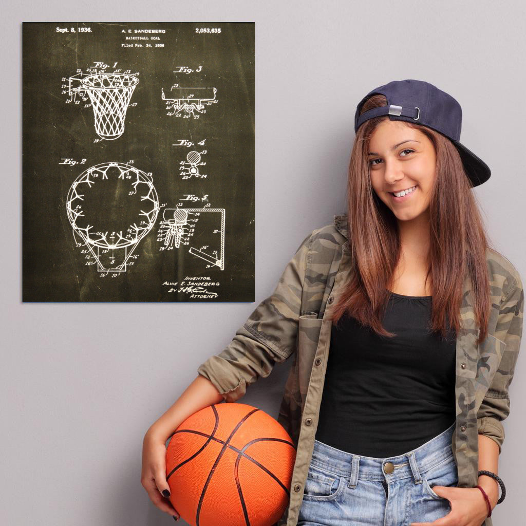 Basketball Hoop Canvas Patent Print