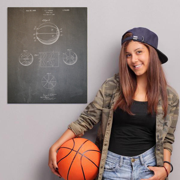 Basketball Ball Canvas Patent Print