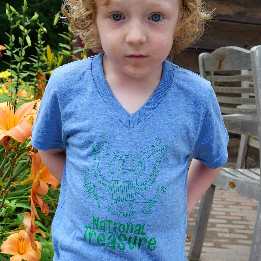 National Treasure Blue Short Sleeved Toddler T-Shirt