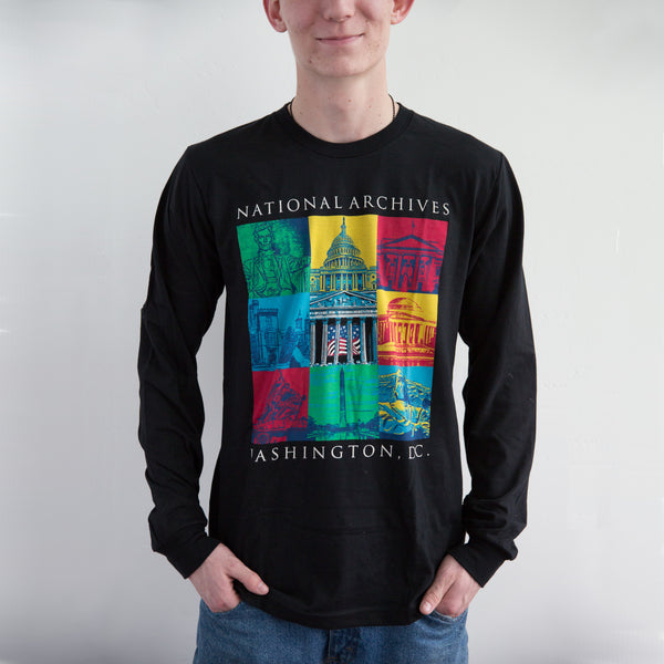 Capital Landmarks Art Long Sleeve T-Shirt