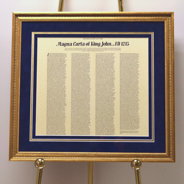 Magna Carta Custom Framed Document