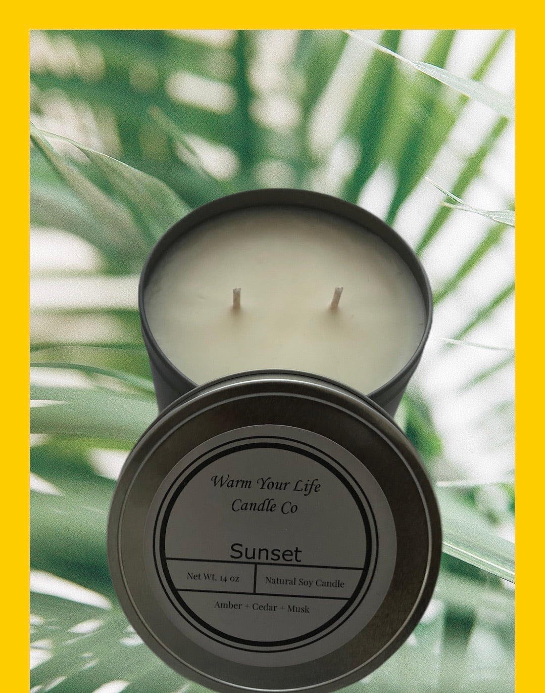 14oz Jumbo Tin Soy Candle Summer Collection