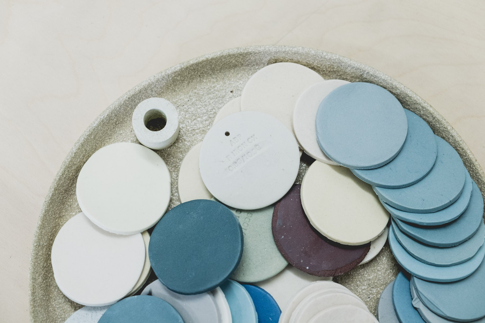 Elliot Ceramics Meet The Maker Test tiles