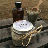 Herbal Bath Salt and convenient wooden scoop