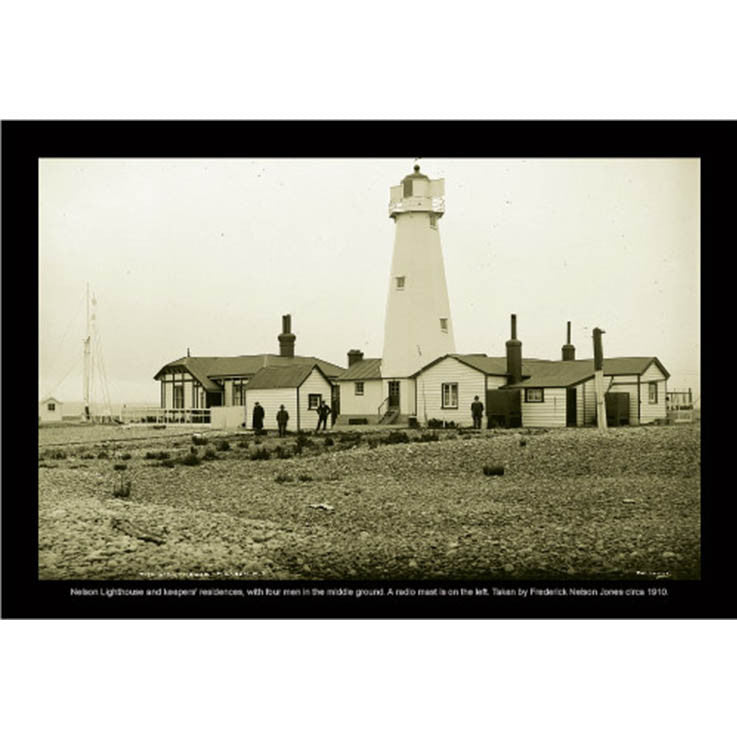 Unique/Thick postcard : Photograph Collection - 1910, Nelson Lighthouse - Kiwi Collections