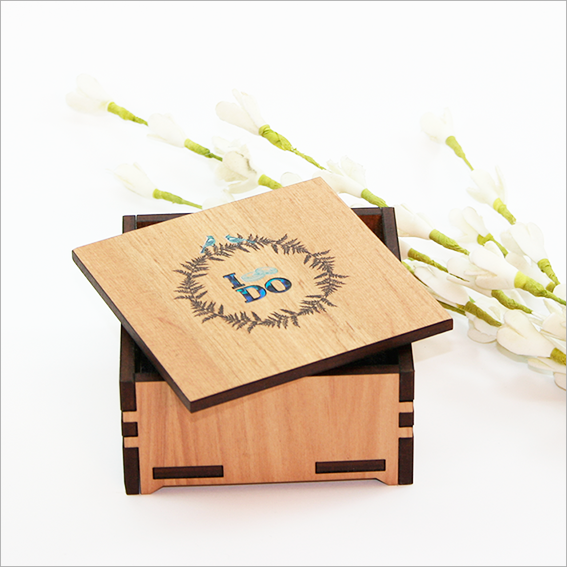Small Trinket Box : I do with fern - Kiwi Collections