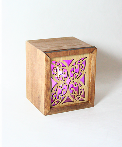 LED TEALIGHT BOX : Kowhaiwhai - Kiwi Collections