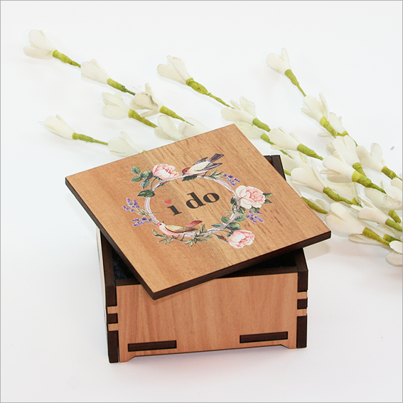 Small Trinket Box : I do with roses - Kiwi Collections
