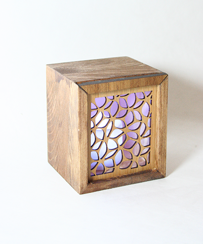 LED TEALIGHT BOX : Leaves - Kiwi Collections
