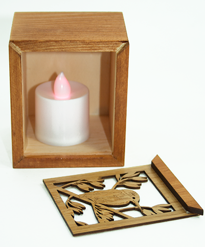 LED TEALIGHT BOX : Kingfisher - Kiwi Collections