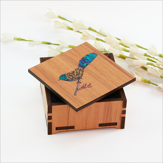 Small Trinket Box : Filigree Fantail - Kiwi Collections