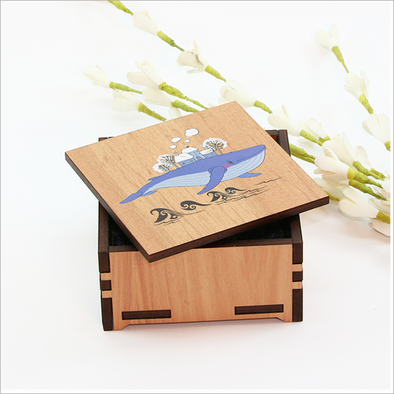 Small Trinket Box : Whale - Kiwi Collections