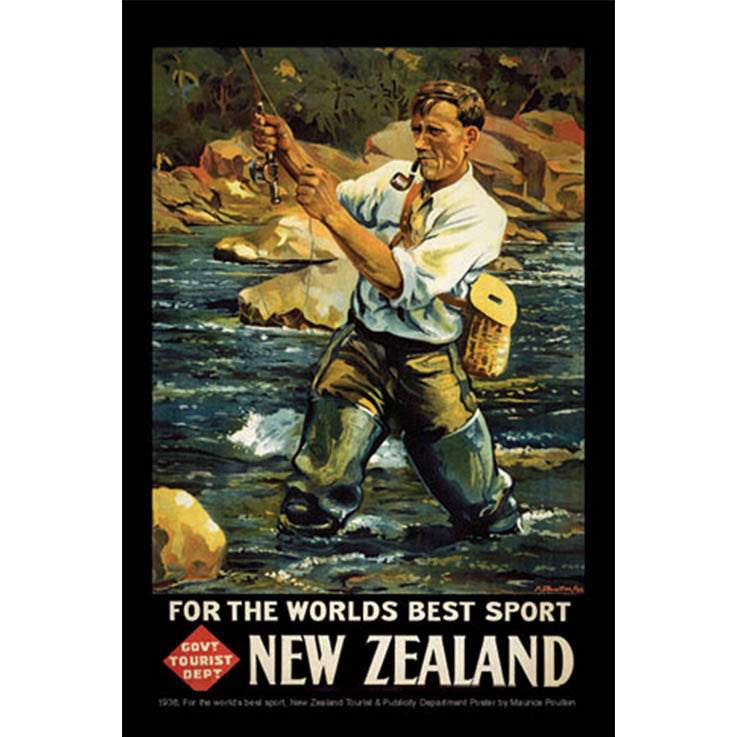 Unique/Thick postcard : Poster Collection - 1936, For the world's best sport - Kiwi Collections