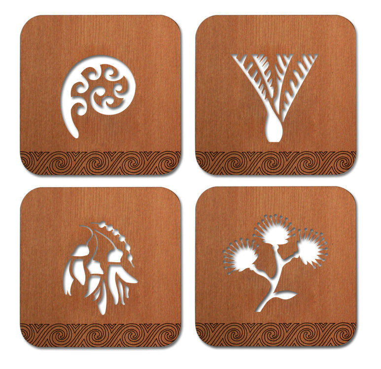 Coasters : Rimu NZ Natives - Kiwi Collections