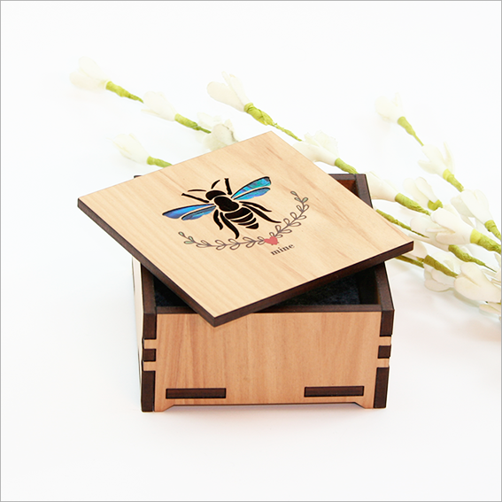 Small Trinket Box : Bee Mine - Kiwi Collections