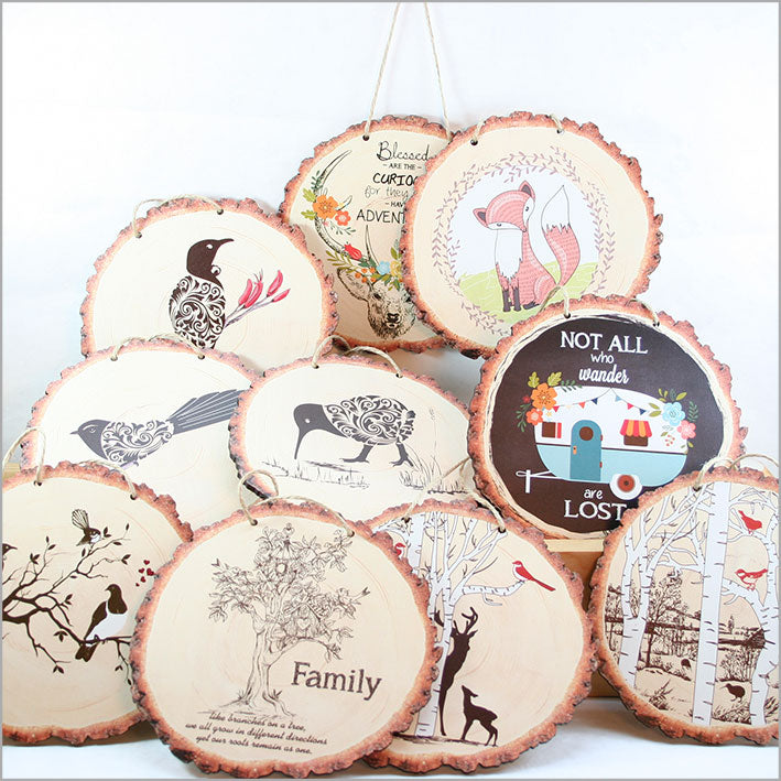 Wood Slice Art: Adventure Deer - Kiwi Collections